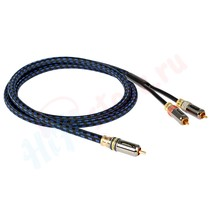 Кабель для сабвуфера Goldkabel Highline Subwoofer RCA-2RCA 1.5 m