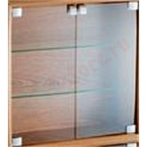 Стеклянные двери Quadraspire CD Qube Glass Doors + Fitting