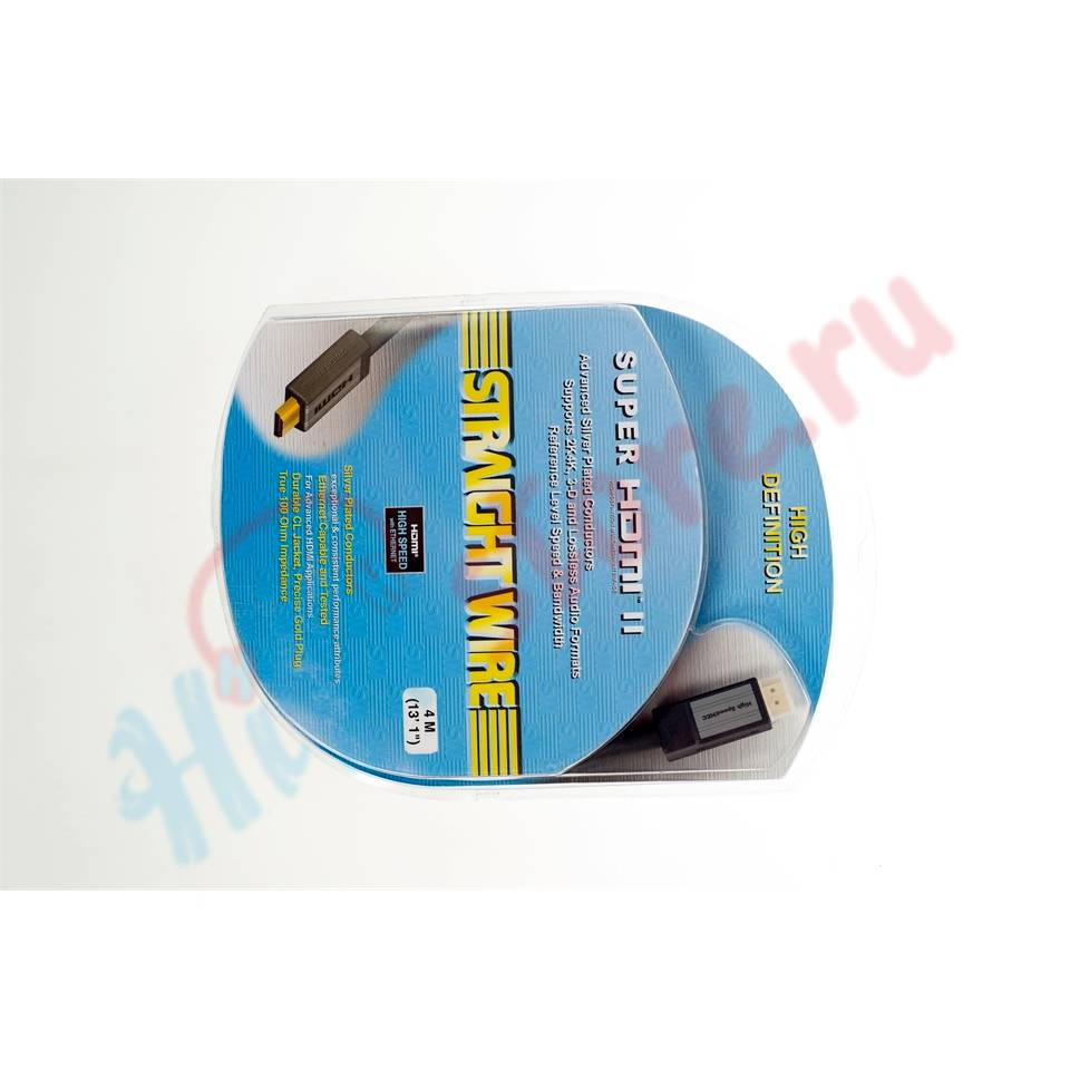 Straight Wire SUPER HDMI II 1.4 4.0 M   - купить hdmi-кабель Straight Wire в HI-FI Store, цена, характеристики, фото.