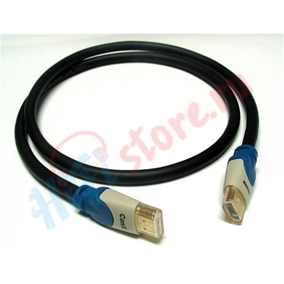 Straight Wire CONX HDMI  DARK BLUE  2 м - купить кабель hdmi Straight Wire в HI-FI Store, цена, характеристики, фото.